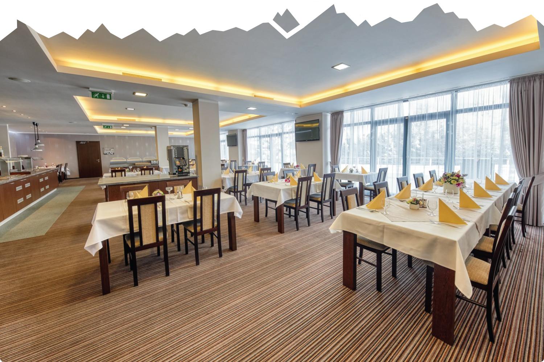 Restaurace v hotelu Panorama Štrbské Pleso